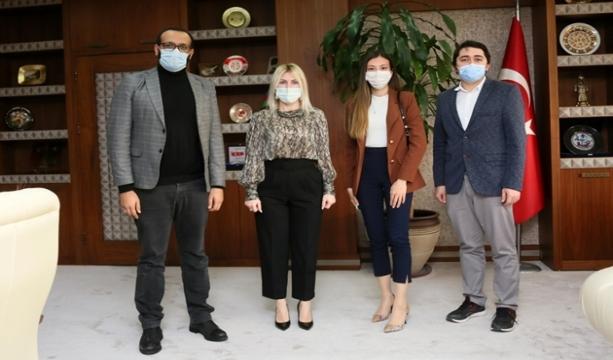 Rektör Özkan, Genç MÜSİAD Başkanı ve Üyeleri İle Görüştü